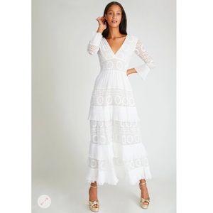 LoveShackFancy Lennon Dress White 2 NWT